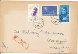 Romania Registered Cover Sent To Hungary Arad 25-9-1962 (the Cover Is Browned By The Sun) - Covers & Documents