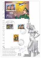 FDC - Leodiphilex 2004 -Blake & Mortimer France - Belgique - Bloc N° 112 + Timbre BE N°3282 + Timbres FR N°3669/70 Signé - Belgium