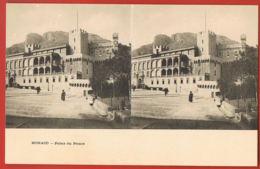 MONACO - Carte Stéréo -Palais Du Prince -cpa Dos Non Divisé - Palais Princier