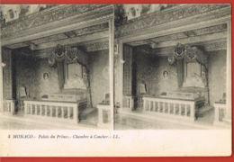 MONACO - Carte Stéréo  LL N° 4-- Palais Du Prince- Chambre à Coucher- - Casino