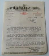 Lot Vieux Papiers Brasserie De La Meuse 1943 WWII Bombardement Seyne Sur Mer Vintage Pétain - France