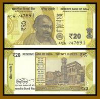 India 20 Rupees, 2019 P-New Gandhi Redesigned Uncirculated Unc - India
