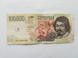 ITALIA 100000 LIRE 1994 - [ 2] 1946-… : Républic