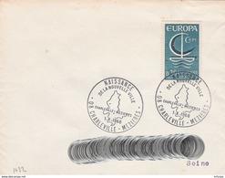 CL1066 Cachet Comm. GF/YvT 1490 Naissance Nouvelle Ville 01/10/1966 08 Charleville Mezières - Storia Postale
