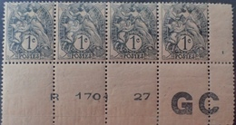 DF40266/888 - 1900 - TYPE BLANC - BANDE N°107j (IA) NEUFS**(2)/*(2) BdF PAPIER GC - 1900-29 Blanc