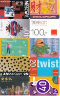 60 Cartes Prépayées Pays Différents Lot1 - Télécartes