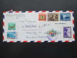 Ecuador 1960er Jahre 2 Belege Via Air Mail / Luftpost Mit Schöner Buntfrankatur! Standart Fruit And Steamship Company - Ecuador