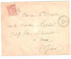 MACON à LYON Lettre Convoyeur Type 1 Ob 26/6/ 1903 15 C Mouchon Yv 117 - Railway Post