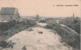 Koksijde - Coxyde    : Panorama Et Villas , ( Molen , Moulin ,  église ,   Kerk , église  ,( N° 11 ) - Koksijde