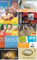 60 Cartes Prépayées Pays Différents Lot2 - Télécartes