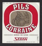 Etiquette De  Bière De Luxe  -  Sedan  -  Brasseries Lorraines à Saint Nicolas De Port   (54) - Bière