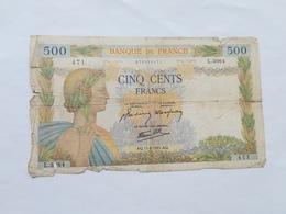 FRANCIA 500 FRANCS 1941 - 1871-1952 Antichi Franchi Circolanti Nel XX Secolo
