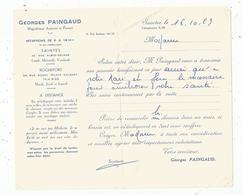 ATTESTATION De Transmission Du Pouvoir Bienfaisant , Georges Paingaud , 17 ,Saintes,  Frais Fr 1.55 E - Vieux Papiers