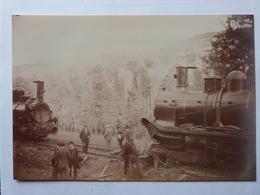 Lozère, Reproduction Photo Ancienne, Tamponnement Train Banassac, Le Monastier. - Frankreich