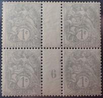 DF40266/893 - 1906 - TYPE BLANC - N°107 (IA) NEUFS* PAPIER GC Mill 6 - 1900-29 Blanc