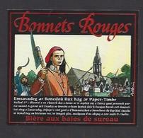 Etiquette De  Bière Aux Baies De Sureau  -  Bonnets Rouges  -  Brasseries B. Lancelot à Le Roc Saint André   (56) - Bière