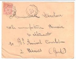 LE PUY à St ETIENNE Lettre Convoyeur Type 1 Ob 29/9/ 1903 15 C Mouchon Yv 125 - Railway Post