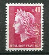 15968 FRANCE N°1536Ba**(Yvert) 40c. Marianne De Cheffer  : Deux Bandes De Phosphore  1969  TB - Variétés: 1960-69 Neufs