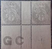 DF40266/894 - 1900 - TYPE BLANC - N°107g (IA) NEUFS** PAPIER GC Avec CROIX De REPAIRE - 1900-29 Blanc