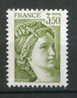15970 FRANCE N°2126b**(Maury) 3F50 Sabine : Deux Bandes De Phosphore à Gauche  1981  TB - Errors & Oddities