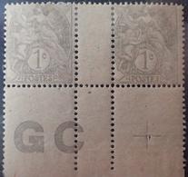DF40266/895 - 1900 - TYPE BLANC - N°107 (IA) NEUFS* PAPIER GC Avec CROIX De REPAIRE - 1900-29 Blanc