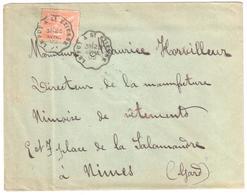 LE PUY à St ETIENNE Lettre Convoyeur Type 1 Ob 23/4/ 1902 15 C Mouchon Yv 125 - Railway Post