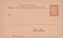 Entier Neuf Poste Privé Berlin - Poste Privée
