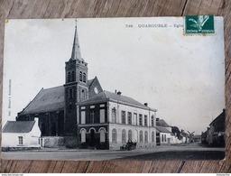CPA QUAROUBLE Eglise 59 NORD Animée Ecrite Circulée - Otros Municipios