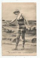 Cp , Femme ,  Au Bord De L'océan , La Craintive Baigneuse ,  Voyagée 1925 - Women