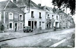 N°12 T -cpsm Nogent Le Bernard -le Centre -voiture Juva 4 - Passenger Cars