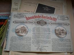 Osterreichisches Bau Los Em 1921  Tausendzweihundert Kronen 1200 - Austria