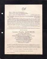 UCCLE HASSELT Mouvement Flamand Louis LEYNEN Veuf TITS 1876-1951 Académie Royale Flamande De Médecine KATANAGA - Overlijden