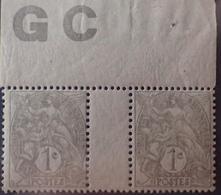DF40266/898 - 1900 - TYPE BLANC - N°107 (IA) NEUFS**(1)/*(1) PAPIER GC - 1900-29 Blanc