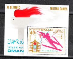 """Oman   -  1972.  Foglietto Olimpiadi Invernali """" Sapporo """". Biathlon. MNH BF Rare Fresh - Winter 1972: Sapporo"""