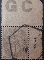 DF40266/899 - 1900 - TYPE BLANC - N°107 (IA) ☉ PAPIER GC - 1900-29 Blanc