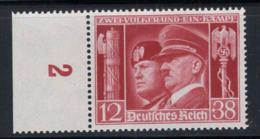 Deutsches Reich 1941 Mi. 763 Postfrisch 100% Mussolini, Persönlichkeit - Deutschland