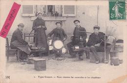 """23- TYPES CREUSOIS- """"Nous Rétamins Las Casserollas Et Les Chaudrous""""-Ecrite-Timbrée-Edit. HM- - Francia"""