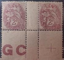 DF40266/901 - 1900 - TYPE BLANC - N°108 (IB) NEUFS* BdF PAPIER GC Avec CROIX De REPAIRE - 1900-29 Blanc