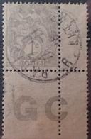 DF40266/902 - 1900 - TYPE BLANC - N°107 ☉ CdF PAPIER GC - 1900-29 Blanc