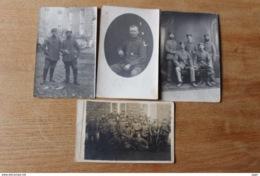 4 Cartes Photo WWI Guerre De 1914 1918 Allemandes Dont Metz Et Soldat Croix De Fer De Première Classe - 1914-18