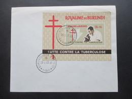 Afrika Burundi Block Royaume Du Burundi Lutte Contre La Tuberculose Stempel Vom Ersttag - 1962-69: Usados