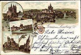Lithographie Limburg An Der Lahn, Dom, Dietkirchen, Ev. Kirche, Panorama - Otros