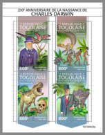TOGO 2019 MNH Charles Darwin Dinosaurs Dinosaurier Dinosaures M/S - OFFICIAL ISSUE - DH1945 - Stamps