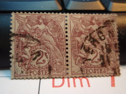 2 Timbres Type Blanc 2 Centimes - 1900-29 Blanc
