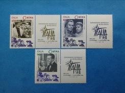 1998 ITALIA FRANCOBOLLO NUOVO STAMP NEW MNH** GIORNATA DEL CINEMA - 1946-.. Republiek