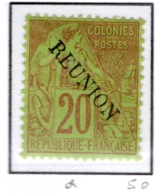 Ex Colonie Française  *  La Réunion  *  Poste  23  N* - Réunion (1852-1975)