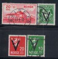 Norwegen 1931-41 Gestempelt 80% Krankenhaus, 7 O, 10 O, 20 O. - Norwegen