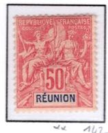 Ex Colonie Française  *  La Réunion  *  Poste  42  N** - Réunion (1852-1975)