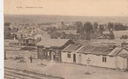 Muno , Panorama Et La Gare , ( ORIGINAL , Circulé En 1931 ) Intérieur Station , Statie , Train - Florenville