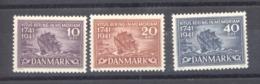 Danemark  :  Yv  278-80  **      Bateau - Boat - 1913-47 (Christian X)
